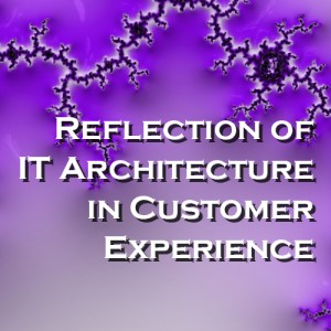 Reflection of IT Architecture in Customer Experience